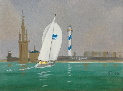 Ivan GOOD - Zeichnung Aquarell - Temps calme