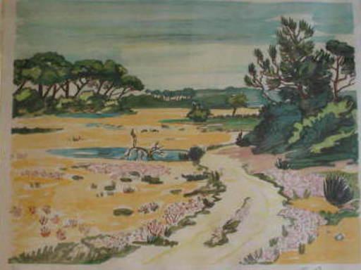 Yves BRAYER - Druckgrafik-Multiple - Le petit Rhone,1984.