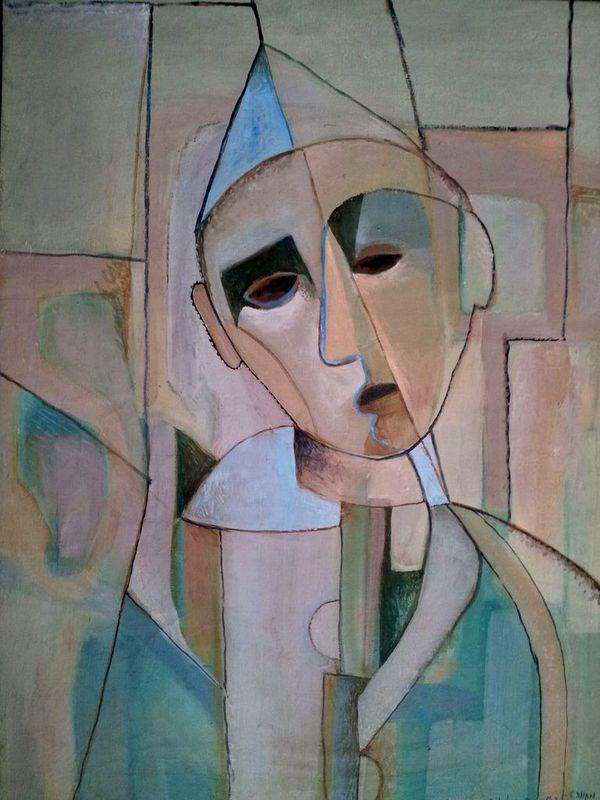 Jacob GILDOR - Painting - The Clown, 1970