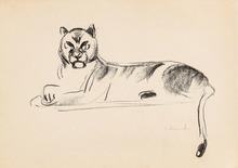 Edvard MUNCH - Grabado - Reclining Lioness