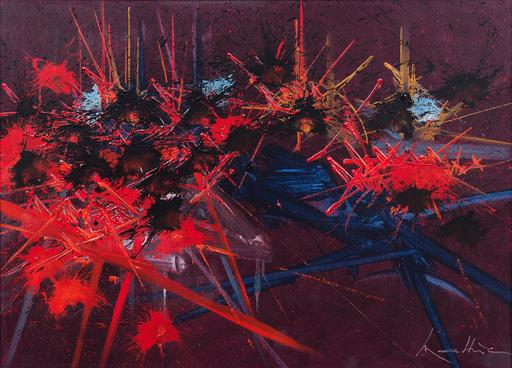 Georges MATHIEU - Gemälde - Dédain Perdu