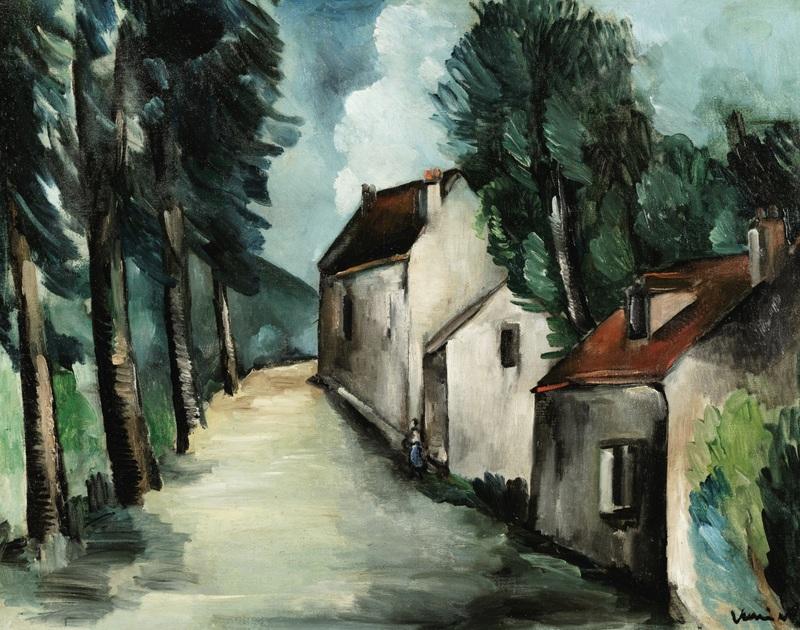 Maurice DE VLAMINCK - Painting - Rue du village