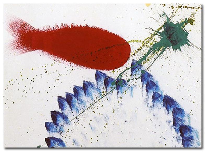 Sam FRANCIS - Pintura - SF89-143 acrylic on paper