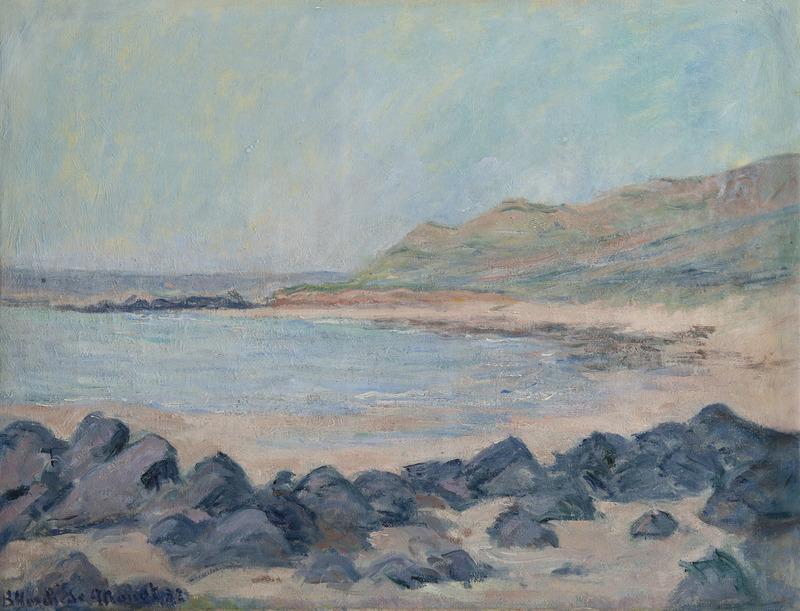 Blanche HOSCHÉDÉ-MONET - Painting - Bord de mer