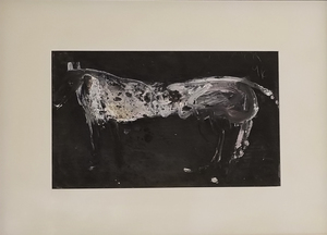 James HAVARD - Peinture - White Horse (mixed media)