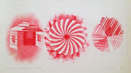 James ROSENQUIST - Estampe-Multiple - Star and Empty House - 2 state
