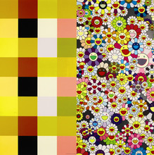 Takashi MURAKAMI (1962) - Acupuncture/Flowers (Checkers)