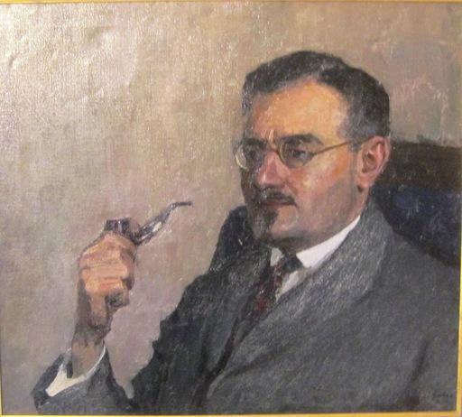 Igor Emanuilovich GRABAR - Gemälde - Portrait of Dr. Mikhailovskij