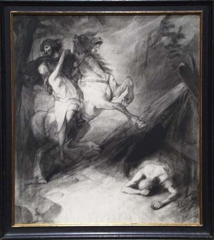 "Adalbert Franz SELIGMANN - Dessin-Aquarelle - ""The Rape of the Sabine Women"" by Adalbert F.Seligmann"