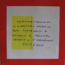 Jacques VILLEGLÉ - Print-Multiple - SÉRIGRAPHIE+COLLAGE SIGNÉE CRAYON HANDSIGNED SILKSCREEN