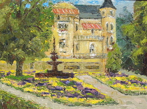 Walter BRÜGGMANN - Painting - Springbrunnen Kaiser-Wilhelm-Platz