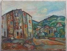 Pinchus KREMEGNE - Peinture - Landscape in Saret-Pireneyan