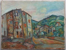 Pinchus KREMEGNE - Pintura - Landscape in Saret-Pireneyan