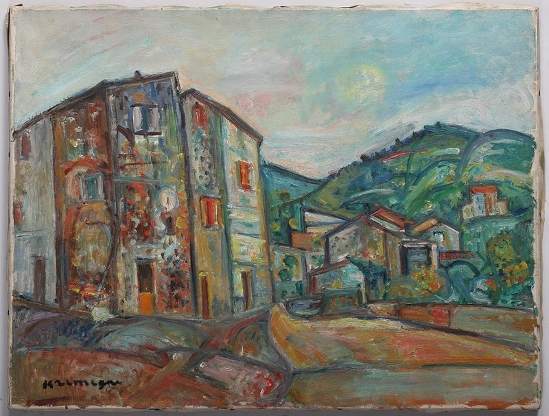 Pinchus KREMEGNE - Painting - Landscape in Ceret-Pyrenean