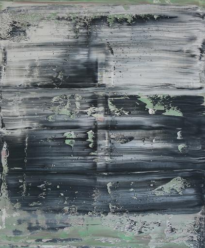 Harry James MOODY - Peinture - Abstract Grey Green No. 144