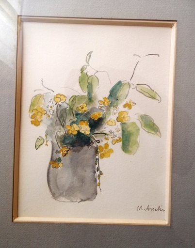 Maurice ASSELIN - Drawing-Watercolor