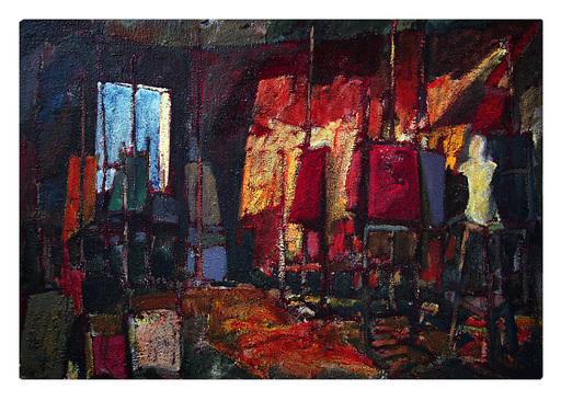 Mauro REGGIO - Painting - interno - studio