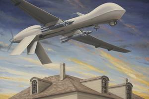 Julio FIGUEROA BELTRAN - Gemälde - Unexpected Intruder
