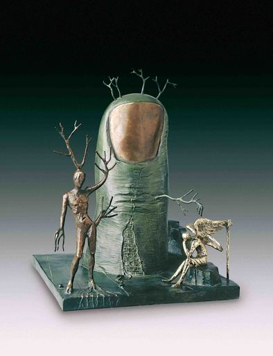 Salvador DALI - Sculpture-Volume - Vision of the Angel, Vision de l'ange
