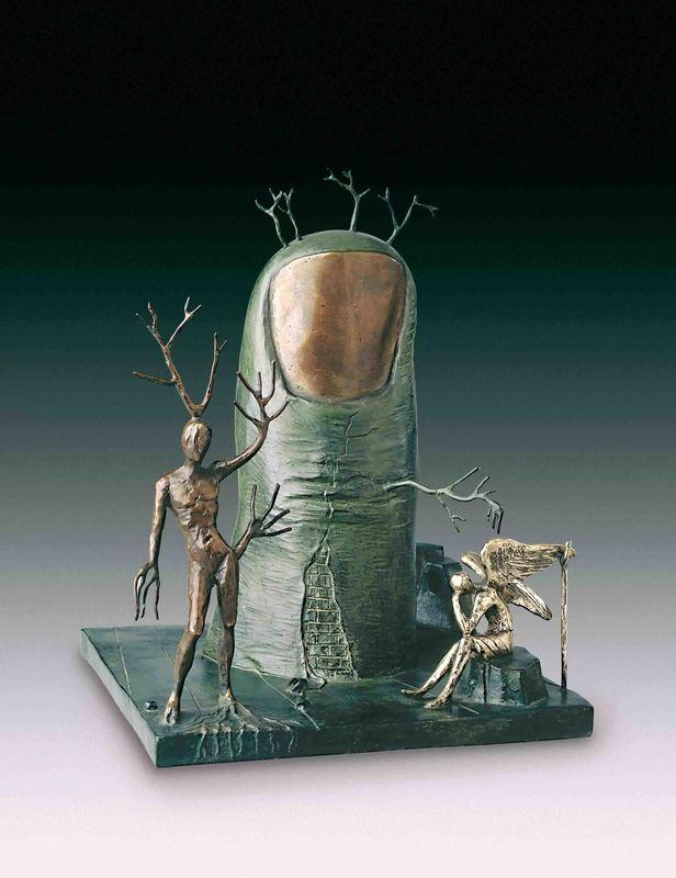 Salvador DALI - Sculpture-Volume - Vision of the Angel, Vision de l'ange