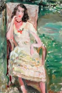 Vladimir NAIDITCH - Gemälde - Portrait de Madame Volovick