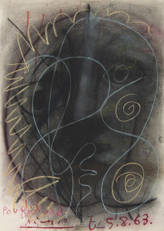 Pablo PICASSO - Drawing-Watercolor - Pichet boule taureau