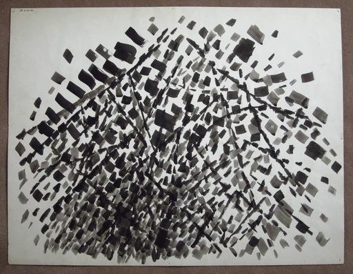 Jacques GERMAIN - Drawing-Watercolor - Composition JG 09 Encre