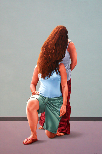 Erlend STEINER LOVISA - Painting - Hannah en Danielle 2 (Cat N° 2712)