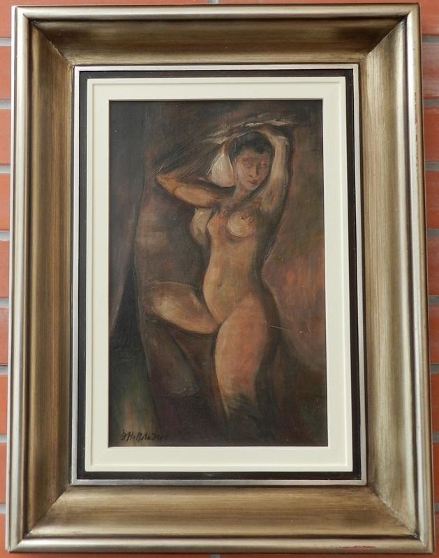 Bedrich HOFFSTÄDTER - Painting - Female act