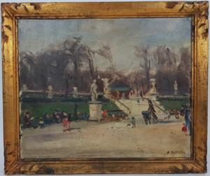 Albert BERTALAN - Pintura - Jardin du Luxembourg