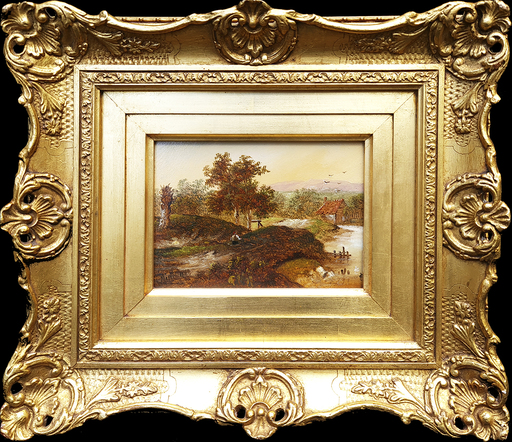 Charles Greville MORRIS - Gemälde - Morning Light, Midday and Evening (Set of 3)