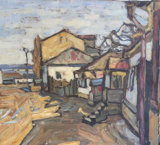 Abraham MANIEVICH - Painting - Street