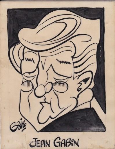 SIRO - Dibujo Acuarela - Jean Gabin