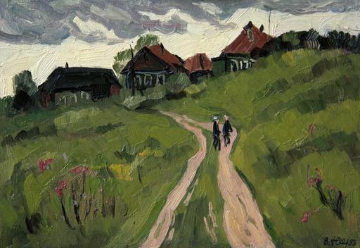 Valeriy NESTEROV - Painting - Nemchinov proyezd. Moscow district