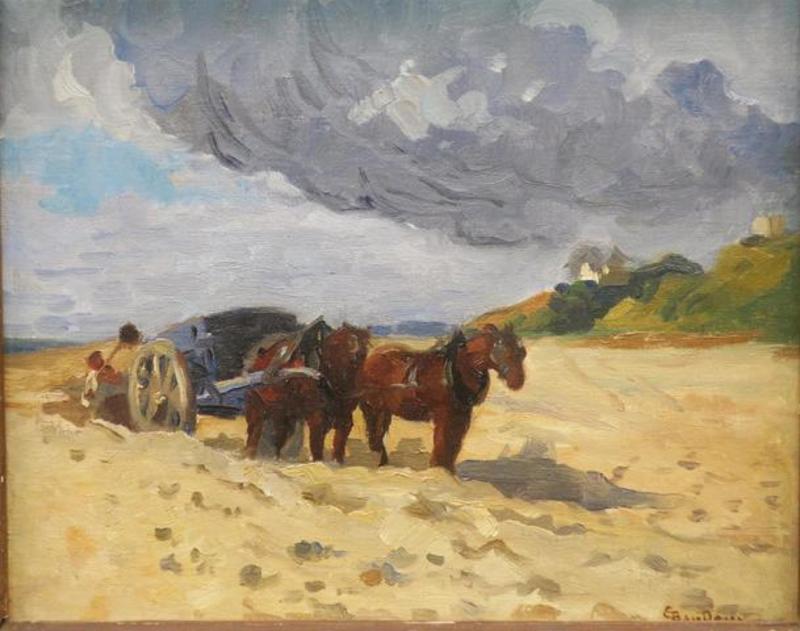 Émile BAUDOUX - Pintura - bord de mer en Bretagne