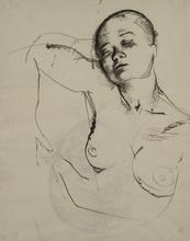 巴维尔•切利乔夫 - 水彩作品 - Double-sided Drawing of Sleeping Woman