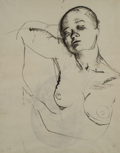 Pavel TCHELITCHEW (1898-1957) - Double-sided Drawing of Sleeping Woman