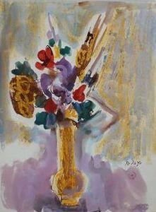 Orlando PELAYO ENTRIALGO - Dessin-Aquarelle - Vase des Fleurs