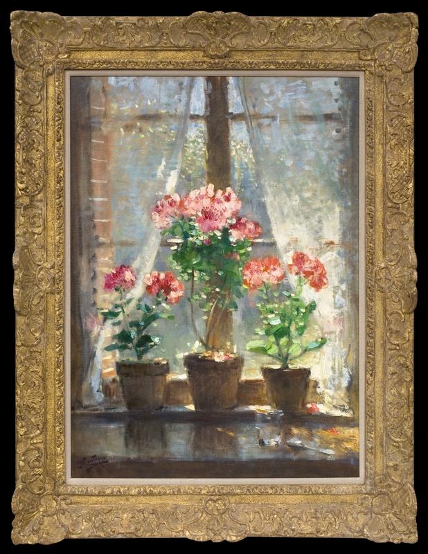 Pierre Eugène MONTEZIN - Painting - Geraniums
