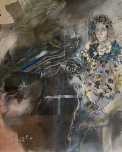 Uri LIFSHITZ - Peinture - Untitled Woman