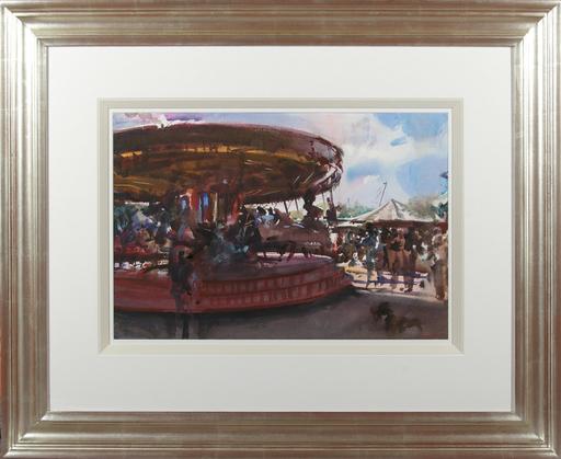 Howard MORGAN - Disegno Acquarello - The Carousel
