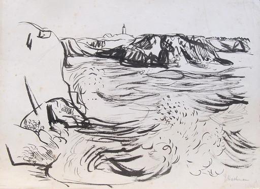 Erich HARTMANN - Dessin-Aquarelle - #19924: Norwegen - Fjordlandschaft.