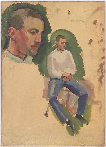 """Bartholomäus II STEFFERL - Gemälde - """"Study of a Soldier"""", Oil Painting, 1910s"""