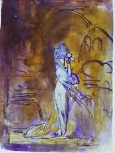 Pierre Amédée MARCEL-BERONNEAU - Dibujo Acuarela - Salomé