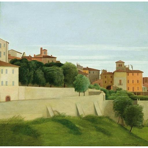 Antonio DONGHI - Painting - Paesaggio (Perugia), 1939