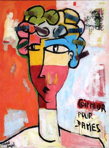 Richard BOIGEOL - Gemälde - Coiffeur pour Dames