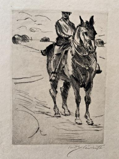洛维斯·科林斯 - 版画 - Reiter II