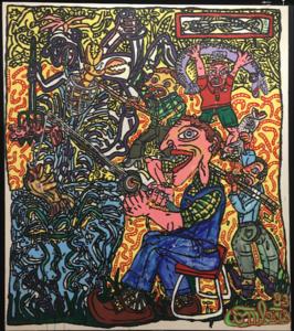 Robert COMBAS - Pintura -  LA PECHE
