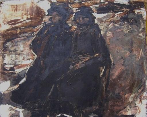 Isaac Lazarus ISRAELS - Painting - winter scene