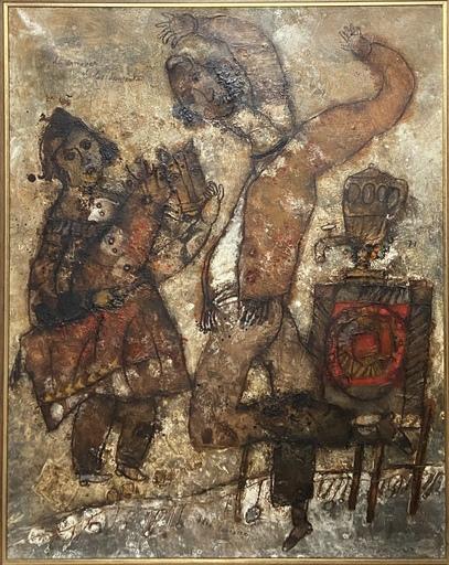 Théo TOBIASSE - Gemälde - Le samovar et les danseurs